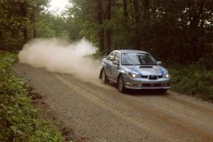 Piotr Wiktorczyk / Martin Brady had no bugs to work out of their new Subaru WRX seen here on SS2.