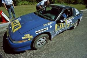 Steve Gingras / Bill Westrick Eagle Talon prepares to leave parc expose for day two's stages.