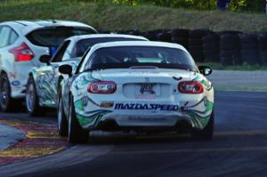 Andrew Carbonell / Nelson Piquet, Jr. Mazda MX-5 and Tyler Cooke / Brad Rampelberg Mazda MX-5