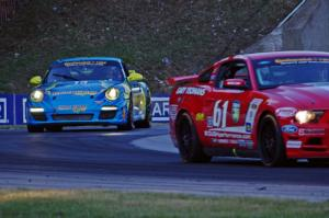 Billy Johnson / Jack Roush, Jr. Mustang Boss 302R GT and Nick Longhi / Matt Plumb Porsche 997