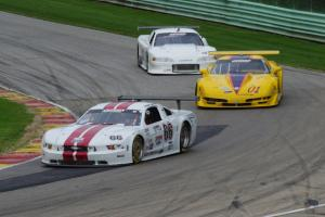 Denny Lamers' Ford Mustang, Jim Bradley's Chevy Corvette and Dave Ruehlow's Ford Mustang