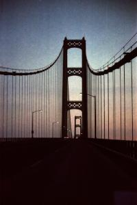 Crossing the Mackinac Bridge from the U.P to the L.P.