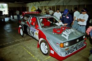 Sakis Hadjiminas / Brian Maxwell Volkswagen Fox Kit Car goes through tech.