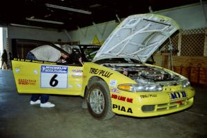 Steve Gingras / Bill Westrick Eagle Talon goes through tech.