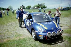 Karl Scheible / Gail McGuire VW Beetle in the tech line.