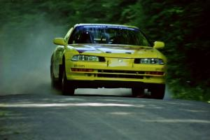 Jim Anderson / Martin Dapot Honda Prelude VTEC at speed on the practice stage.