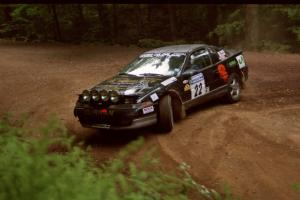 Michael Curran / Joe McGirl Eagle Talon powers out of a hairpin on SS5, Thompson Point I.