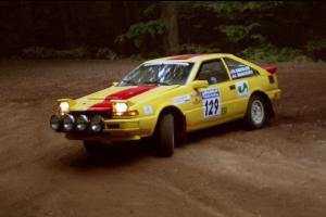 Scott Kreisler / John Bonasera Nissan 200SX powers out of a hairpin on SS5, Thompson Point I.