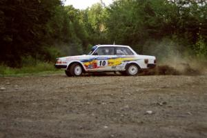 Bill Malik / Christian Edstrom Volvo 240 powers out of a hairpin on SS3, Grafton I.