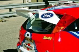 Rear wing of the Ford Focus WRC.