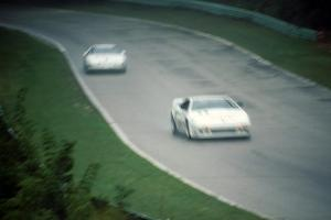 Paul Newman's Lotus Esprit X180R ahead of Jay Sperry's Chevy Corvette
