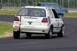 JAB Motorsport VW GTI chases the Team Chevette Chevy Chevette