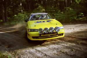 Steve Gingras / Bill Westrick Eagle Talon at a 90-right on SS1, Akeley Cutoff.