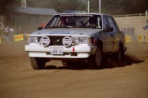 Carl Jardevall / Amity Trowbridge Volvo 740 on SS1, Fairgrounds.
