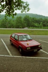 The photographer's VW GTI at a rest stop close to the New York / Pennsylvania border.