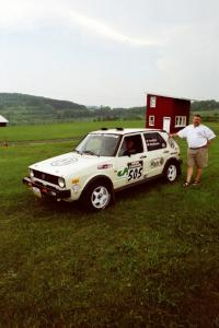 Jon Hamilton / Josh Westhoven VW Rabbit just prior to tech inspection.