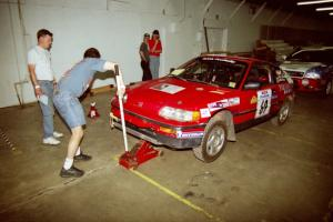 Charles Sherrill / Mark Rea Honda CRX Si goes through tech inspection.