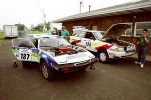 John Shirley / Rob Hughes Triumph TR-7 and Jerry Cuffe / Sean O'Reilly Audi 80 Quattro at tech.