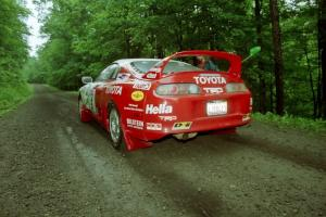 Ralph Kosmides / Ken Cassidy Toyota Supra Turbo launches from the start of the practice stage.