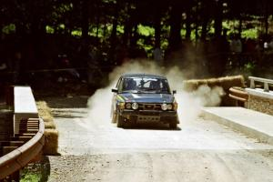 Mike White / Marc Goldfarb SAAB 99GLI at the Asaph Campground spectator location on SS4, Phasa.