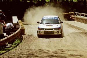 Vinnie Frontinan / Nick Pessoa Mitsubishi Lancer Evo IV at the Asaph Campground spectator location on SS4, Phasa.