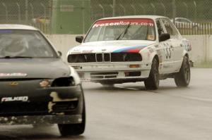 Tubby Butterman Racing 2 BMW 325 chases the Bear Patrol Lexus SC400