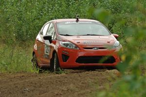 Payton Gray / Danny Grant Ford Fiesta on SS3, Indian Creek.