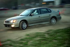 Chris Fortune's Subaru Legacy at the Thursday night rallycross.