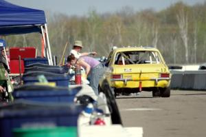 Richard Nixon Racing Opel Ascona in pit lane after the race.
