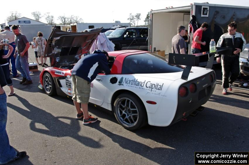 Braunschweig Racing Chevy Corvette after the event