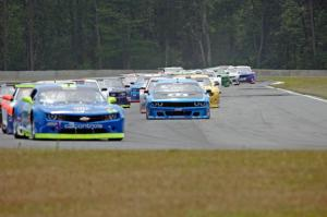 The TA2 field comes into turn 4 on the first lap.