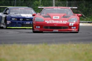 Amy Ruman's Chevy Corvette and Kevin Poitras' Ford Mustang