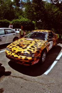 Doug Shepherd / Pete Gladysz Mitsubishi Eclipse prior to the start of the event.