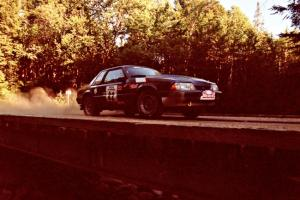 Mike Hurst / Rob Bohn Ford Mustang on SS3, E. Town East.