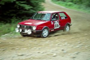 Richard Pilczuk / Brian Pilczuk VW GTI on SS3, E. Town East.