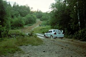 Paul Dunn / Rebecca Dunn Mitubishi Lancer Evo IV on SS3, E. Town East.