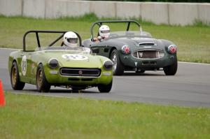 Dan L'Heureux's MG Midget and Dan Powell's Austin-Healey 3000