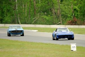Kent Burg's Chevy Corvette and Brian Kennedy's Ford Mustang Boss 302