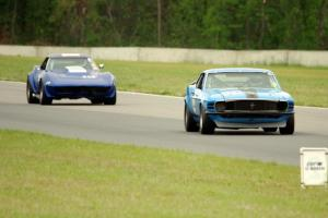 Brian Kennedy's Ford Mustang Boss 302 and Kent Burg's Chevy Corvette