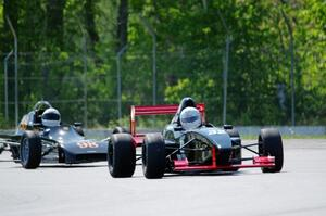 Dave Schaal's Formula Enterprises and Tom Stephani's Crossle 35F Formula F