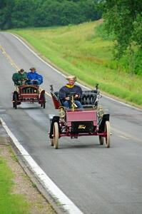 Rick Lindner's 1903 Ford and Jeff Hasslen's 1904 Franklin