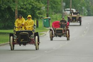 Brian Heyd's 1908 Cadillac, Bruce van Sloun's 1904 Autocar Type VIII and Rob Heyen's 1907 Ford