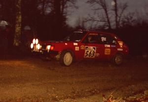 Gary Starr / Bill Tifft head uphill at the crossroads hairpin in their Dodge Omni GLH.