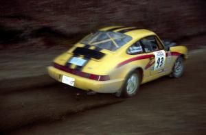 Bob Olson / Conrad Ketelsen drift their Porsche 911 through a sweeping left on SS1.
