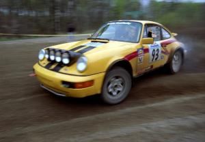 Bob Olson / Conrad Ketelsen drift their Porsche 911 through a 90-left on SS2.