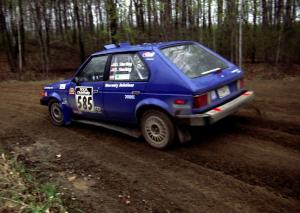 Dave Sterling / Stacy Sterling drift their Dodge Omni GLH-S through a 90-left on SS2.