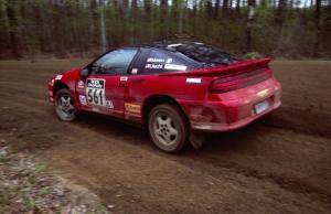 Adam Moren / Mark Utecht come out of a 90-left on SS2 in their Mitsubishi Eclipse GSX.