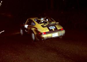 Bob Olson / Conrad Ketelsen at speed in their Porsche 911 at night. They DNF'ed late in the event.