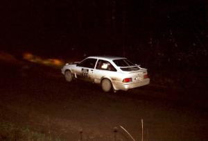 Colin McCleery / Nancy McCleery at speed at night in their Merkur XR4Ti.