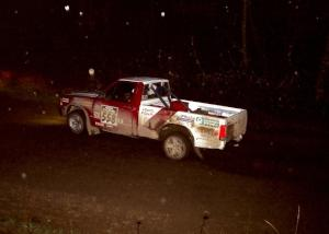 Jim Cox / Kaari Cox at speed at night in their Chevy S-10.